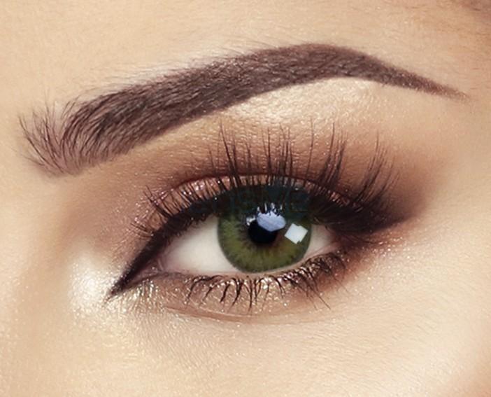 Amazing Green Eyes Contact Lenses Makeup